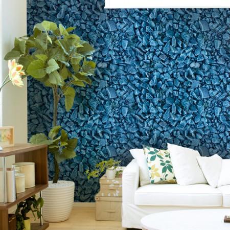 Adesivo Papel de Parede - Pedra Azul
