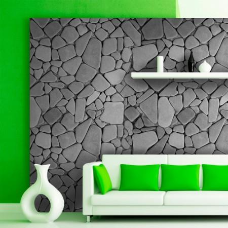 Adesivo Papel de Parede - Pedra Cinza