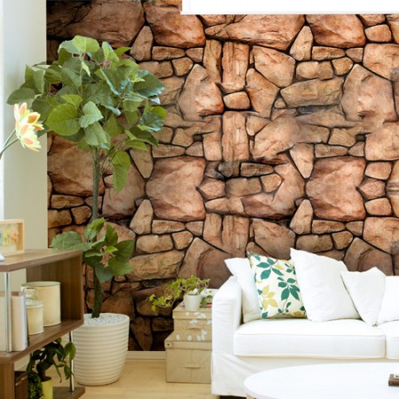 Adesivo Papel de Parede - Pedra Rochedo
