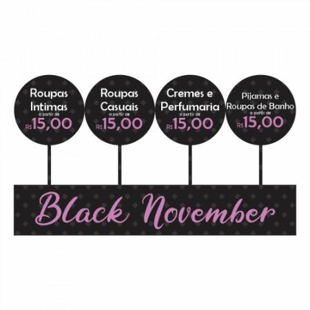 Adesivo de Vitrine - Black Friday - Black November
