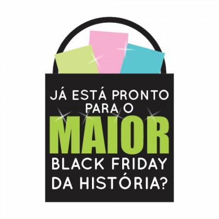 Adesivo de Vitrine - Black Friday - Pronto para a Maior