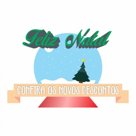 Adesivo de Vitrine - Natal - Feliz Natal Confira