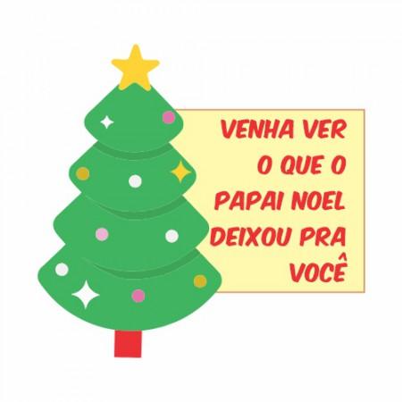 Adesivo de Vitrine - Natal - Papai Noel Deixou
