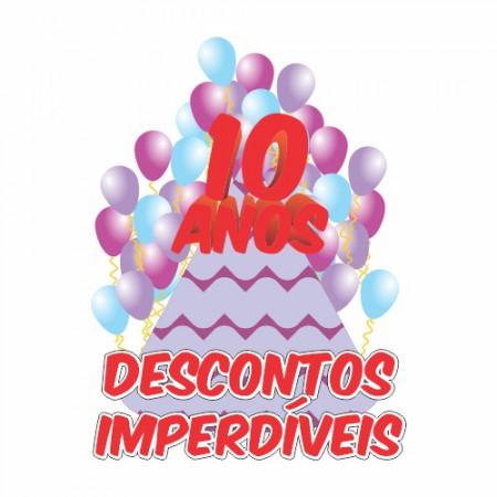 Adesivo de Vitrine - Aniversário de Loja - Balões