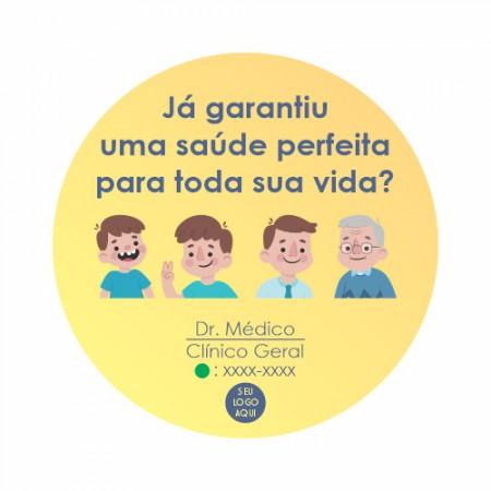 Adesivo de Vitrine - Saúde - Saúde Perfeita