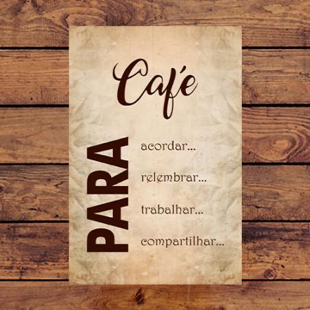 Quadrinho Decorativo - Café Para