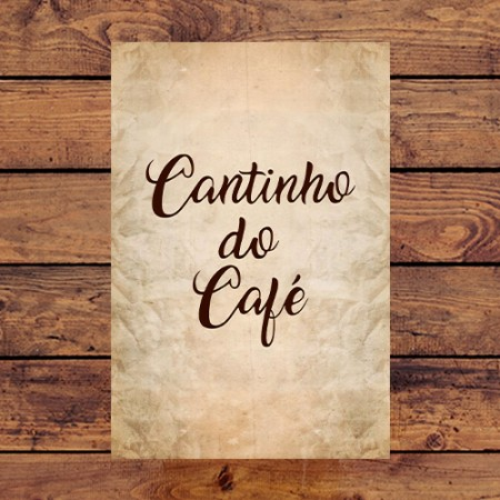 Quadrinho Decorativo - Cantinho do Café