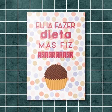 Quadrinho Decorativo - Fiz Brigadeiro