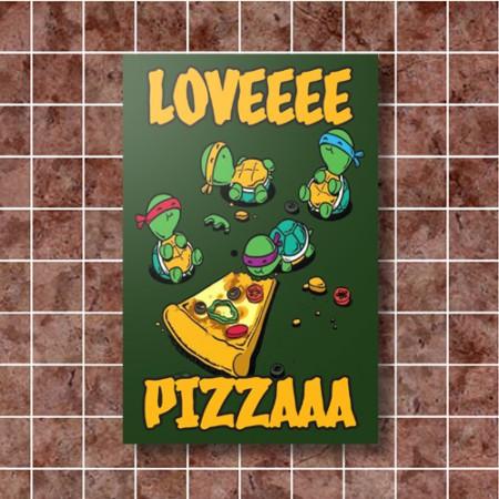 Quadrinho Decorativo - Love Pizza