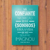 Quadrinho Decorativo - Confiante