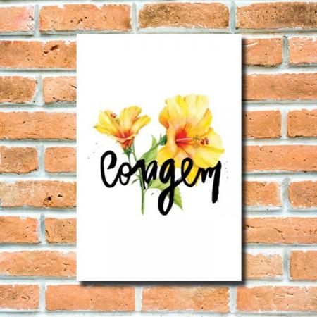 Quadrinho Decorativo - Flor da Coragem
