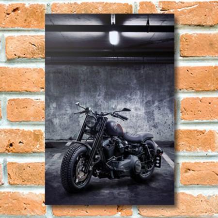 Quadrinho Decorativo - Moto Escura