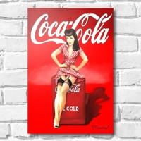 Quadrinho Decorativo - Coca Cola Pin Up